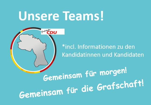 Unsere Teams für die Stadtrats-, Samtgemeinderats- und Kreistagswahl mit Informationen zu den Kandidatinnen und Kandidaten