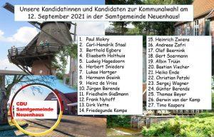 Kandidatinnen- und Kandidatenvorstellung Samtgemeinde Neuenhaus per Video -Querformat-