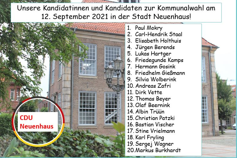 Kandidatinnen- und Kandidatenvorstellung Stadt Neuenhaus per Video          -Querformat-